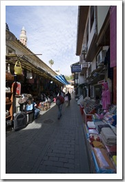 The street-side stalls in Antalya's old town Kaleici