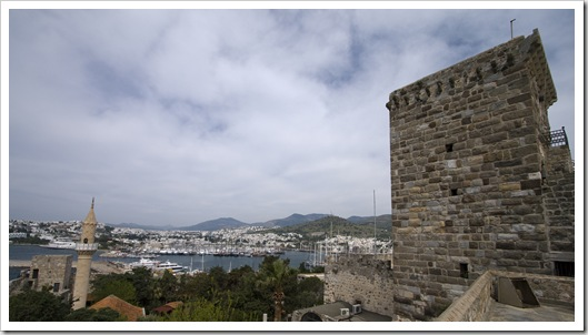 View of Bodrum's westerm marina from the castle
