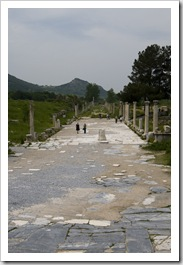 The main street leading to Ephesus' harbor