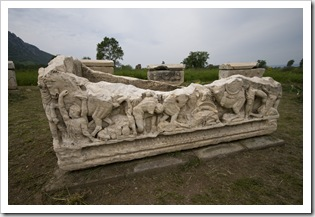 Once of the more intricately carved sarcophagus in Ephesus