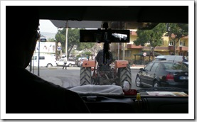 Tractors on the roads are common throughout Turkey