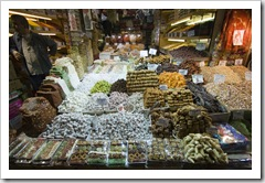 Turkish delight and dried fruits in the Spice Bazaar