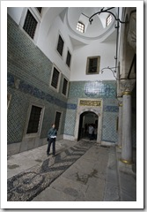 Courtyard of the black eunuchs inside the harem at Topkapi Palace