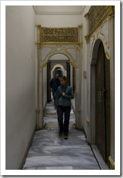 Lisa inside the harem at Topkapi Palace