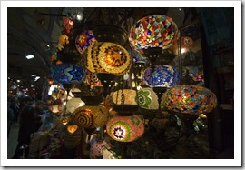 Turkish lamps in the Grand Bazaar