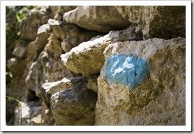 Corfu Trail markers