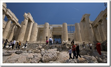 The Propylaia at the main entrance to the Acropolis