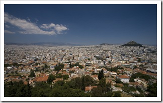 Looking north across Athens from the Acropolis