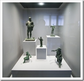Bronze statues in the National Archaelogical Museum