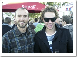 Sam and Todd at the McLaren Vale Sea and Vines Festival