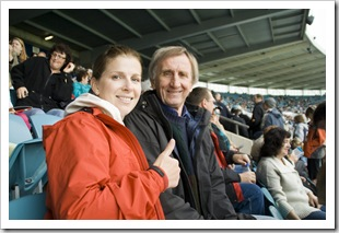 Lisa and John at the Port Power and Richmond Tigers AFL game