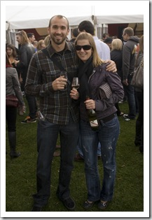 Sam and Lisa at the McLaren Vale Sea and Vines Festival