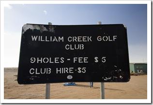 William Creek golf