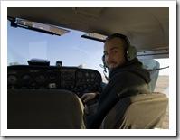 Sam up next to the pilot
