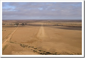 William Creek and the airstrip coming in to land