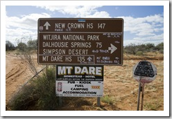 Off the Oodnadatta Track into Witjira National Park