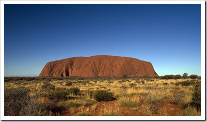 Uluru in the late afternoon sun