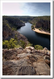 Katherine Gorge's first gorge from Pat's Lookout