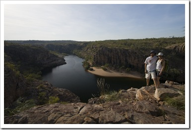 Sam and Lisa at Katherine Gorge's first gorge from Pat's Lookout