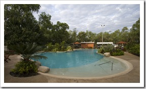 The pool at the campground in Nitmiluk National Park