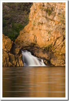 The lower falls at Leliyn (Edith Falls)