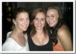 Margot, Lisa and Sophie out for Richie's 30th birthday