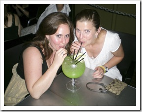 Margot and Lisa enjoying an Illusion at the Tap Bar