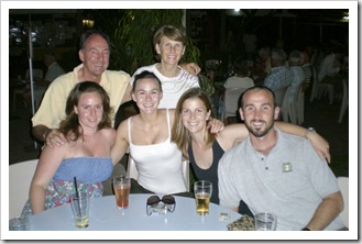 Margot, Bob, Cathy, Sophie, Lisa and Sam at the Darwin Sailing Club