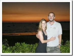 Lisa and Sam at the Darwin Sailing Club