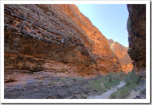 The hiking trail along Cathedral Gorge