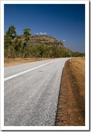 The Arnhem Land escarpment alongside the road between Ubirr and Jabiru