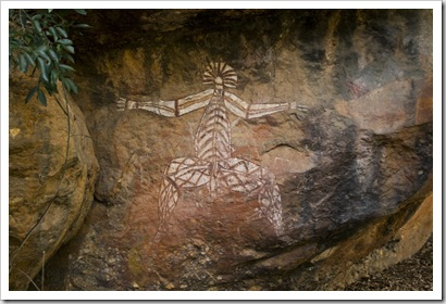 Aboriginal art at Anbangbang