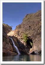 The swimming hole and waterfall at Maguk