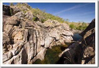 One of the swimming holes at the top of Gunlom waterfall