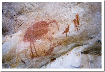The Aboriginal art along the cliffs of Joe's Creek Walk in Gregory National Park