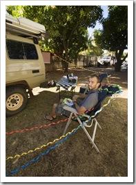 Sam's thirtieth birthday at Ivanhoe Caravan Park