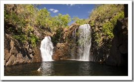 Lisa swimming in Florence Falls