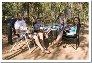 Sam, Sophie, Lisa and Margot at Wangi Falls