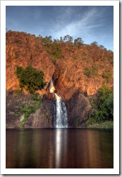 Wangi Falls in the sunset