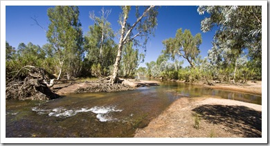 Miner's Pool swimming hole on Drysdale Station