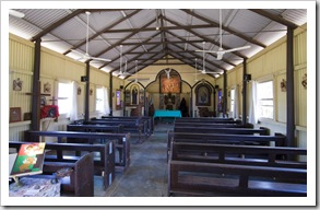 The inside of the Kalumburu Mission church