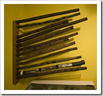 Didgeridoos in the Kalumburu Mission museum