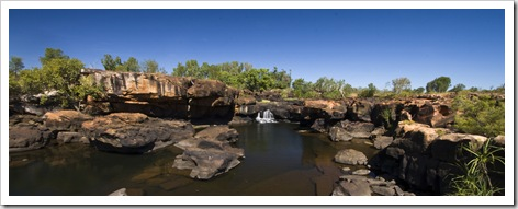 The swimming hole next to our campsite at King Edward River