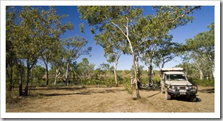 Camping next to the King Edward River