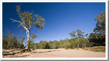 A dry Gibb River in front of our campsite