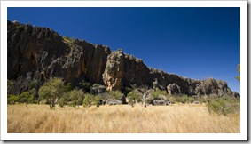The cliffs in front of Windjana Gorge