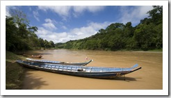 Our transport on the Nam Khan River to Tad Sae Waterfall