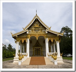 One of the many temples around central Vientiane