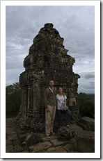 Sam and Lisa at Phnom Bakheng