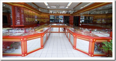 One of the many gold merchant's in Phuket Town